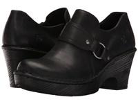 Born Ravenna Black Full Grain Leather Women's Clog Shoes