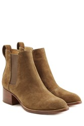 Rag And Bone Suede Ankle Boots Green