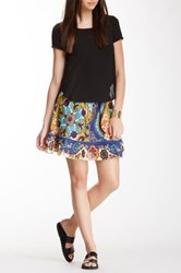 Chaudry Printed Peasant Skirt Multi