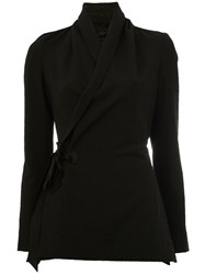 Rick Owens Wrap Jacket Black