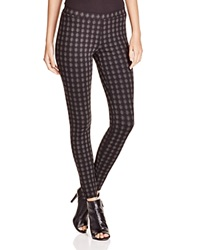 Joie Keena Plaid Ponte Leggings Dark Charcoal W Caviar