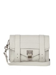 Proenza Schouler Ps1 Mini Leather Cross Body Bag Light Grey