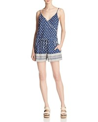 French Connection Castaway Drape Printed Romper Indian Ocean Multi