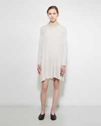 Raquel Allegra Jersey Bell Dress Dirty White