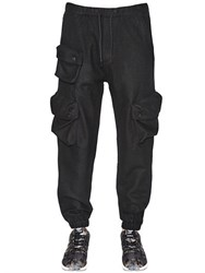 Adidas Originals Blue Wool Blend Cargo Pants