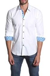 Jared Lang Long Sleeve Spread Collar Semi Fitted Shirt White