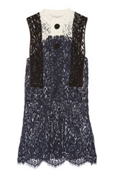 Toga Paneled Lace Tunic Navy