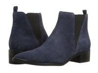 Marc Fisher Ltd Yale Dark Blue Suede Women's Dress Pull On Boots