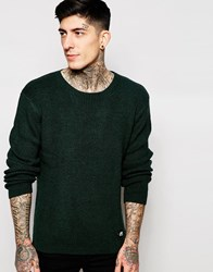 Cheap Monday Crew Jumper Curve Knit Green Melange Greenasteroid