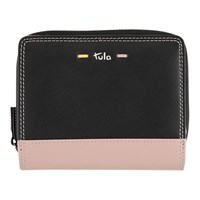 Tula Violet Leather Wallet Purse Black
