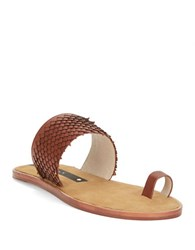 Matt Bernson Crane Toe Ring Sandals Bourbon