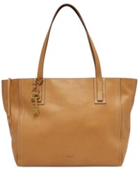 Fossil Emma Leather Tote Tan