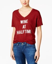 Retro Brand Game Day Graphic T Shirt Burgundy