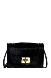 Treesje Harlow Genuine Calf Hair Crossbody Black