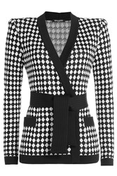 Balmain Printed Cardigan Black