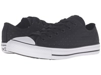 Converse Chuck Taylor All Star Neoprene Ox Black Black White Women's Lace Up Casual Shoes
