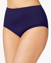 Anne Cole Plus Size Tummy Control Swim Bottoms Women's Swimsuit Navy