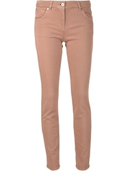 Brunello Cucinelli Garment Dyed Jeans Pink And Purple