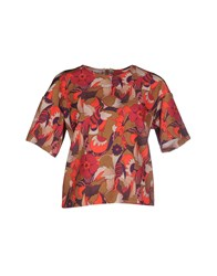 Michelle Windheuser Shirts Blouses Women Red