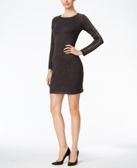 Calvin Klein Petite Studded Sweater Dress Charcoal
