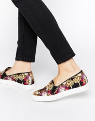 Supertrash Leila Floral Canvas Slip On Shoes