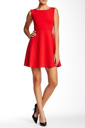 French Connection Feather Ruth Flare Dress Red