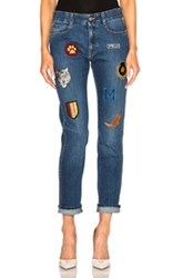 Stella Mccartney Skinny Boyfriend In Blue