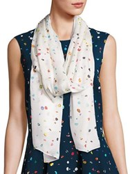 Akris Punto Boulder Print Modal And Silk Scarf White