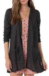 O'neill Women's Chevron Knit Cardigan Stretch Limo