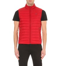 Armani Jeans Quilted Shell Gilet Red