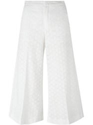 Red Valentino Broderie Anglaise Trousers White
