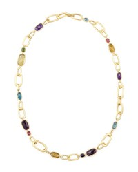 Murano 18K Multi Stone Large Link Necklace 27 L