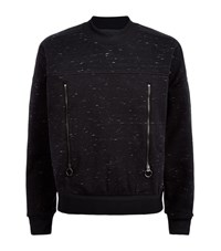 Adidas By Stella Mccartney Melange Zip Sweatshirt Female Black