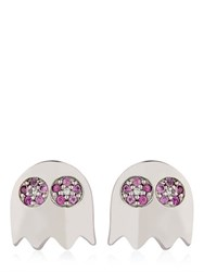 Federico Primiceri Level 256 Pac Man Pink Sapphire Earrings