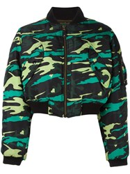 Jean Paul Gaultier Vintage Army Bomber Jacket Green