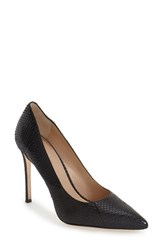 Pour La Victoire Women's 'Celeste' Pointy Toe Pump Black Snake Print Leather