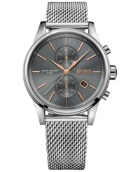 Boss Men's Chronograph Jet Stainless Steel Mesh Bracelet Watch 41Mm 1513440 Gray