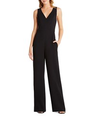 Bcbgeneration V Neck Wide Leg Jumpsuit Black