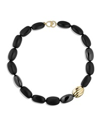 Black Onyx Necklace With Gold David Yurman