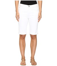Nydj Briella Roll Cuff Shorts In Optic White Optic White Women's Shorts