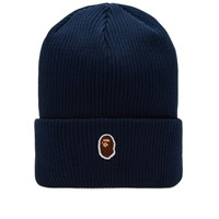 A Bathing Ape One Point Knit Cap Blue