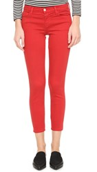 J Brand 9227 Low Rise Ankle Jeans Pompeian Red