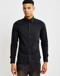 G Star G Star Core Shirt Long Sleeve Stretch Poplin Black