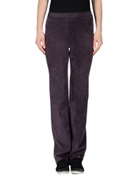 Roberto Collina Trousers Casual Trousers Women Dark Purple
