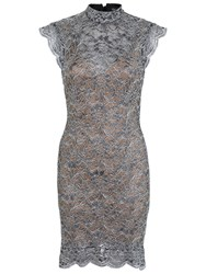 Miss Selfridge Lace Dress Silver