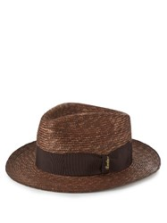 Borsalino Panama Straw Hat Brown