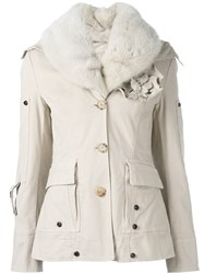 Ermanno Scervino Floral Corsage Jacket Nude And Neutrals