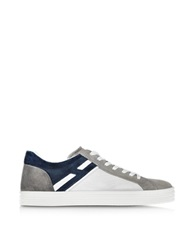 Hogan Rebel Color Block Suede Low Top Men's Sneaker Gray