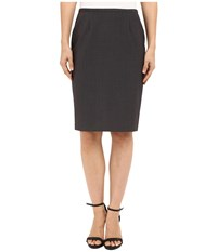 Calvin Klein Pencil Skirt Charcoal Melange Women's Skirt Gray