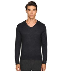 Todd Snyder Alpaca Silk V Neck Sweater Black